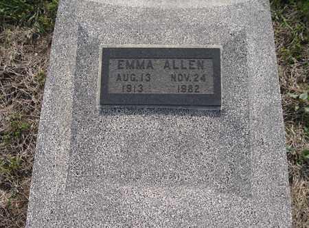ALLEN, EMMA - Leavenworth County, Kansas | EMMA ALLEN - Kansas Gravestone Photos
