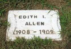 ALLEN, EDITH IRENE - Leavenworth County, Kansas | EDITH IRENE ALLEN - Kansas Gravestone Photos