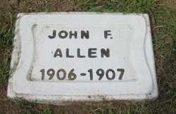 ALLEN, JOHN F - Leavenworth County, Kansas | JOHN F ALLEN - Kansas Gravestone Photos