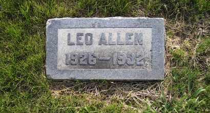 ALLEN, LEO ERNEST - Leavenworth County, Kansas   LEO ERNEST ALLEN - Kansas Gravestone Photos