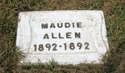 ALLEN, MAUDIE (2ND STONE) - Leavenworth County, Kansas | MAUDIE (2ND STONE) ALLEN - Kansas Gravestone Photos
