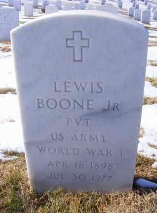 BOONE, LEWIS, JR   (VETERAN WWI) - Leavenworth County, Kansas   LEWIS, JR   (VETERAN WWI) BOONE - Kansas Gravestone Photos