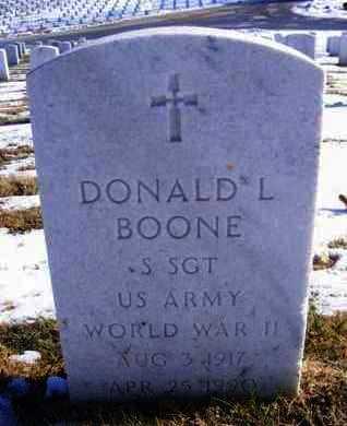 BOONE, DONALD LEROY  (VETERAN WWII) - Leavenworth County, Kansas | DONALD LEROY  (VETERAN WWII) BOONE - Kansas Gravestone Photos