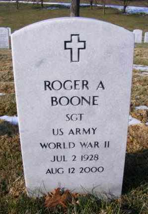BOONE, ROGER ARTHUR  (VETERAN  WWII) - Leavenworth County, Kansas   ROGER ARTHUR  (VETERAN  WWII) BOONE - Kansas Gravestone Photos