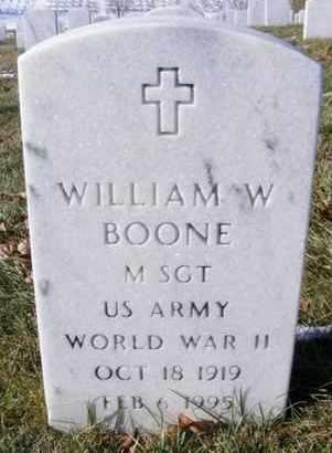 BOONE, WILLIAM W   (VETERAN WWII) - Leavenworth County, Kansas | WILLIAM W   (VETERAN WWII) BOONE - Kansas Gravestone Photos