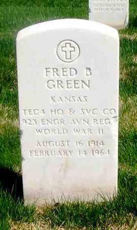 GREEN, FRED B   (VETERAN WWII) - Leavenworth County, Kansas   FRED B   (VETERAN WWII) GREEN - Kansas Gravestone Photos