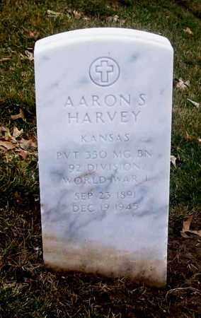 HARVEY, AARON SILVESTER   (VETERAN WWI, KIA) - Leavenworth County, Kansas | AARON SILVESTER   (VETERAN WWI, KIA) HARVEY - Kansas Gravestone Photos
