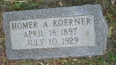 KOERNER, HOMER A - Leavenworth County, Kansas   HOMER A KOERNER - Kansas Gravestone Photos