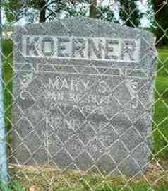 KOERNER, MARY S - Leavenworth County, Kansas | MARY S KOERNER - Kansas Gravestone Photos