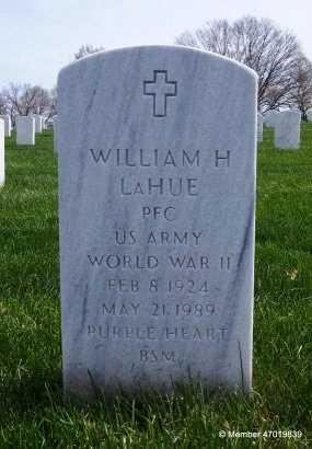 LAHUE  , WILLIAM H  (VETERAN WWII) - Leavenworth County, Kansas   WILLIAM H  (VETERAN WWII) LAHUE   - Kansas Gravestone Photos