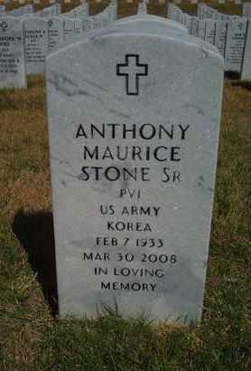 STONE, ANTHONY MAURICE , SR  (VETERAN KOR) - Leavenworth County, Kansas | ANTHONY MAURICE , SR  (VETERAN KOR) STONE - Kansas Gravestone Photos