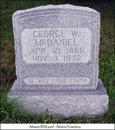 MCDANIEL, GEORGE WESLEY - Lyon County, Kansas | GEORGE WESLEY MCDANIEL - Kansas Gravestone Photos