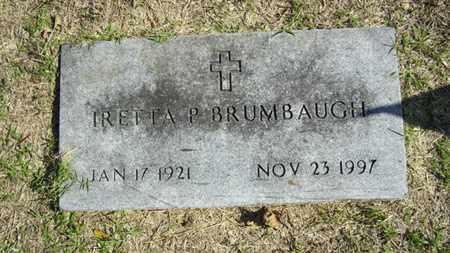 GREEN BRUMBAUGH, IRETTA PEARL - Lyon County, Kansas   IRETTA PEARL GREEN BRUMBAUGH - Kansas Gravestone Photos
