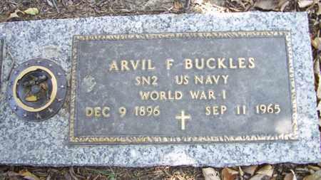 BUCKLES, ARVIL F  (VETERAN WWI) - Lyon County, Kansas | ARVIL F  (VETERAN WWI) BUCKLES - Kansas Gravestone Photos