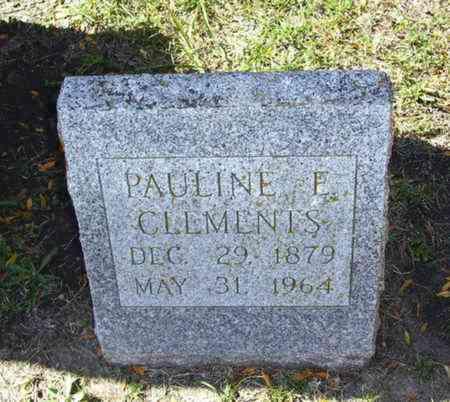 CLEMENTS, PAULINE E - Lyon County, Kansas | PAULINE E CLEMENTS - Kansas Gravestone Photos