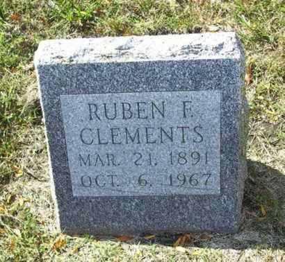 CLEMENTS, RUBEN F - Lyon County, Kansas | RUBEN F CLEMENTS - Kansas Gravestone Photos