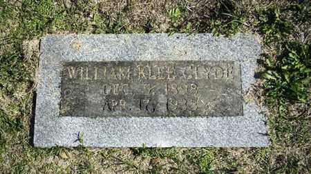 CLYDE, WILLIAM KLEE - Lyon County, Kansas   WILLIAM KLEE CLYDE - Kansas Gravestone Photos