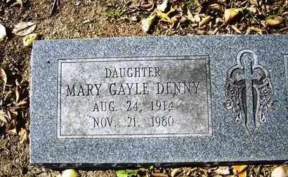 DENNY, MARY GAYLE - Lyon County, Kansas | MARY GAYLE DENNY - Kansas Gravestone Photos