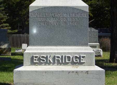 ESKRIDGE, CHARLES VERNOM - Lyon County, Kansas | CHARLES VERNOM ESKRIDGE - Kansas Gravestone Photos
