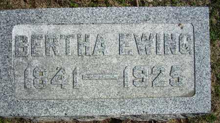 EWING, BERTHA - Lyon County, Kansas | BERTHA EWING - Kansas Gravestone Photos