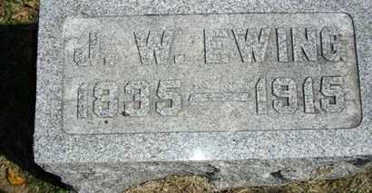 EWING, JAMES WESLEY - Lyon County, Kansas | JAMES WESLEY EWING - Kansas Gravestone Photos