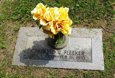 FLEEKER, CAROLINE V - Lyon County, Kansas | CAROLINE V FLEEKER - Kansas Gravestone Photos