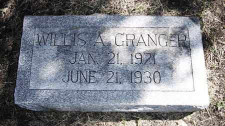 GRANGER, WILLIS ARTHUR - Lyon County, Kansas | WILLIS ARTHUR GRANGER - Kansas Gravestone Photos