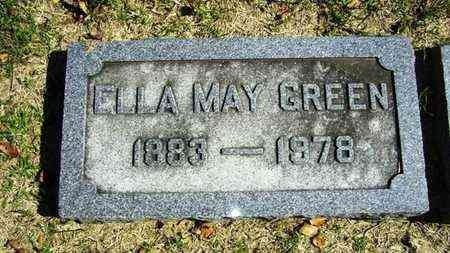 MARCELLUS GREEN, ELLA MAY - Lyon County, Kansas | ELLA MAY MARCELLUS GREEN - Kansas Gravestone Photos