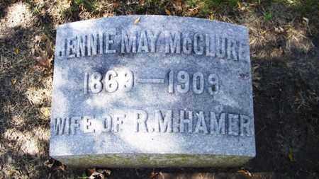 HAMER, JENNIE MAY - Lyon County, Kansas   JENNIE MAY HAMER - Kansas Gravestone Photos