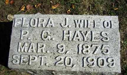 HAYES, FLORA J - Lyon County, Kansas | FLORA J HAYES - Kansas Gravestone Photos