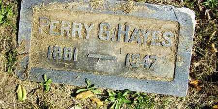 HAYES, PERRY G - Lyon County, Kansas   PERRY G HAYES - Kansas Gravestone Photos