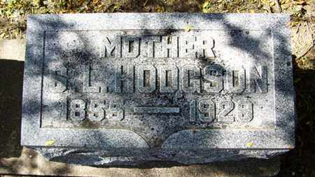 HODGSON, S L - Lyon County, Kansas | S L HODGSON - Kansas Gravestone Photos
