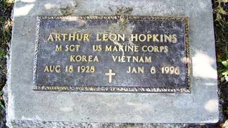 HOPKINS, ARTHUR LEON  (VETERAN 2 WARS) - Lyon County, Kansas | ARTHUR LEON  (VETERAN 2 WARS) HOPKINS - Kansas Gravestone Photos
