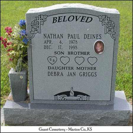 DEINES, NATHAN PAUL - Marion County, Kansas | NATHAN PAUL DEINES - Kansas Gravestone Photos