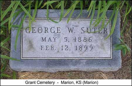 SUTER, GEORGE W - Marion County, Kansas | GEORGE W SUTER - Kansas Gravestone Photos