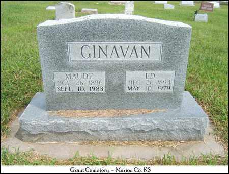 GINAVAN, MAUDE - Marion County, Kansas   MAUDE GINAVAN - Kansas Gravestone Photos