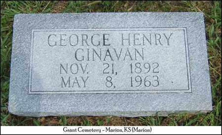 GINAVAN, GEORGE HENRY - Marion County, Kansas | GEORGE HENRY GINAVAN - Kansas Gravestone Photos