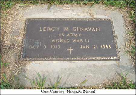 GINAVAN, LEROY M  (VETERAN WWII) - Marion County, Kansas | LEROY M  (VETERAN WWII) GINAVAN - Kansas Gravestone Photos
