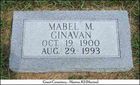 GINAVAN, MABEL M - Marion County, Kansas   MABEL M GINAVAN - Kansas Gravestone Photos