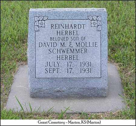 HERBEL, REINHARDT - Marion County, Kansas   REINHARDT HERBEL - Kansas Gravestone Photos