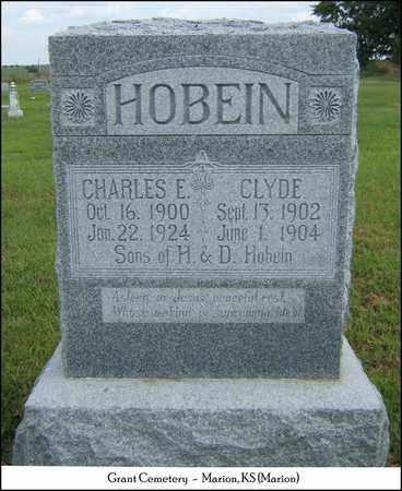 HOBEIN, CHARLES E - Marion County, Kansas | CHARLES E HOBEIN - Kansas Gravestone Photos