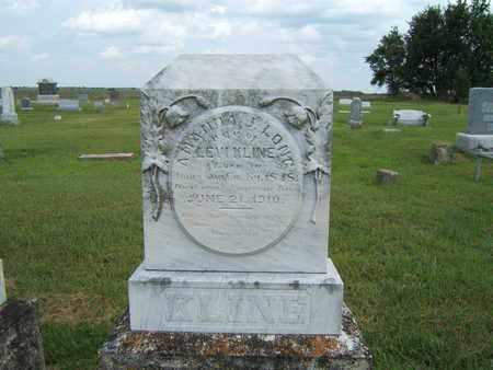 LONG KLINE, AMANDA J. - Marion County, Kansas | AMANDA J. LONG KLINE - Kansas Gravestone Photos