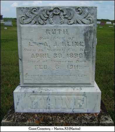KLINE, RUTH - Marion County, Kansas   RUTH KLINE - Kansas Gravestone Photos