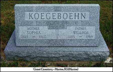 KOEGEBOEHN, SOPHIA - Marion County, Kansas | SOPHIA KOEGEBOEHN - Kansas Gravestone Photos