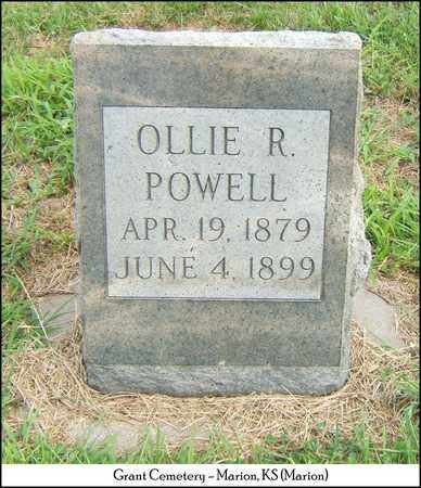 POWELL, OLLIE R - Marion County, Kansas | OLLIE R POWELL - Kansas Gravestone Photos