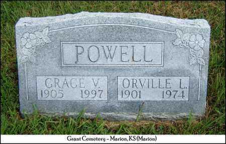 POWELL, GRACE V - Marion County, Kansas | GRACE V POWELL - Kansas Gravestone Photos