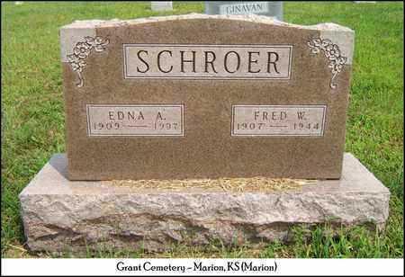 SCHROER, FRED W - Marion County, Kansas | FRED W SCHROER - Kansas Gravestone Photos