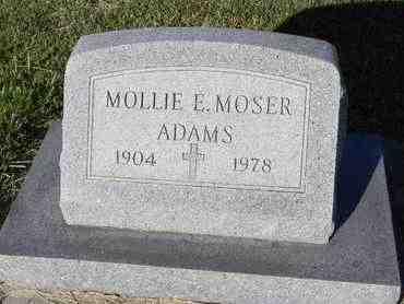 ADAMS, MOLLIE EMMALINE - Marshall County, Kansas | MOLLIE EMMALINE ADAMS - Kansas Gravestone Photos