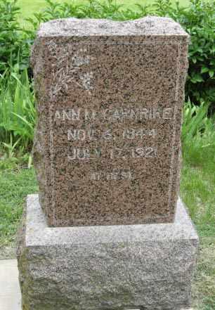 CARNRIKE, ANN M - Marshall County, Kansas   ANN M CARNRIKE - Kansas Gravestone Photos