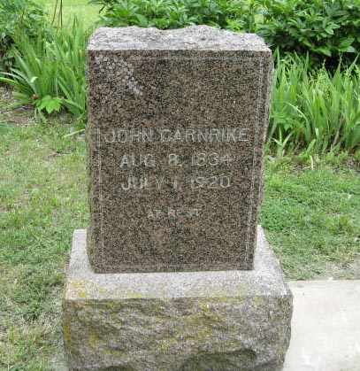 CARNRIKE, JOHN - Marshall County, Kansas   JOHN CARNRIKE - Kansas Gravestone Photos